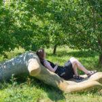 Naturskrivegruppe med forfatter Nanna Goul